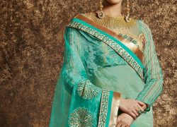 Excellent quality Heavy georgette designer sarees with designer blouse pieces