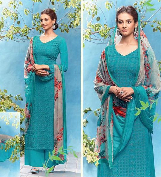 Exclusive Georgette Straight suits